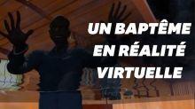 Un pasteur fait des baptêmes en réalité virtuelle