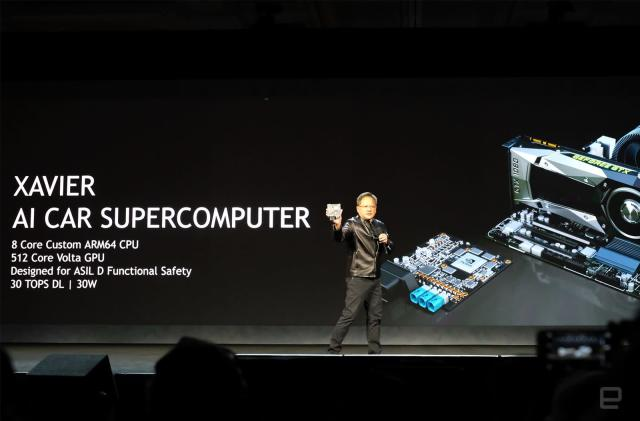 NVIDIA made a self-driving car with its Xavier supercomputer