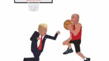 LaVar Ball tweets legendary GIF of him dunking on President Trump