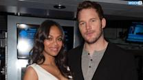 "Chris Pratt Dishes On His ""Yoga Belly"" After Having Pregnant Pose-Off With Zoe Saldana"