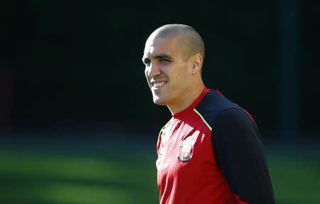 Southampton's Oriol Romeu during training