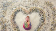 'There's hope at the end of the tunnel': Newborn's IVF themed photoshoot goes viral