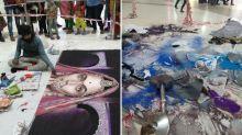 Mob Rubbed out 'Padmavati' Rangoli That Artist Took 48 Hrs to Make