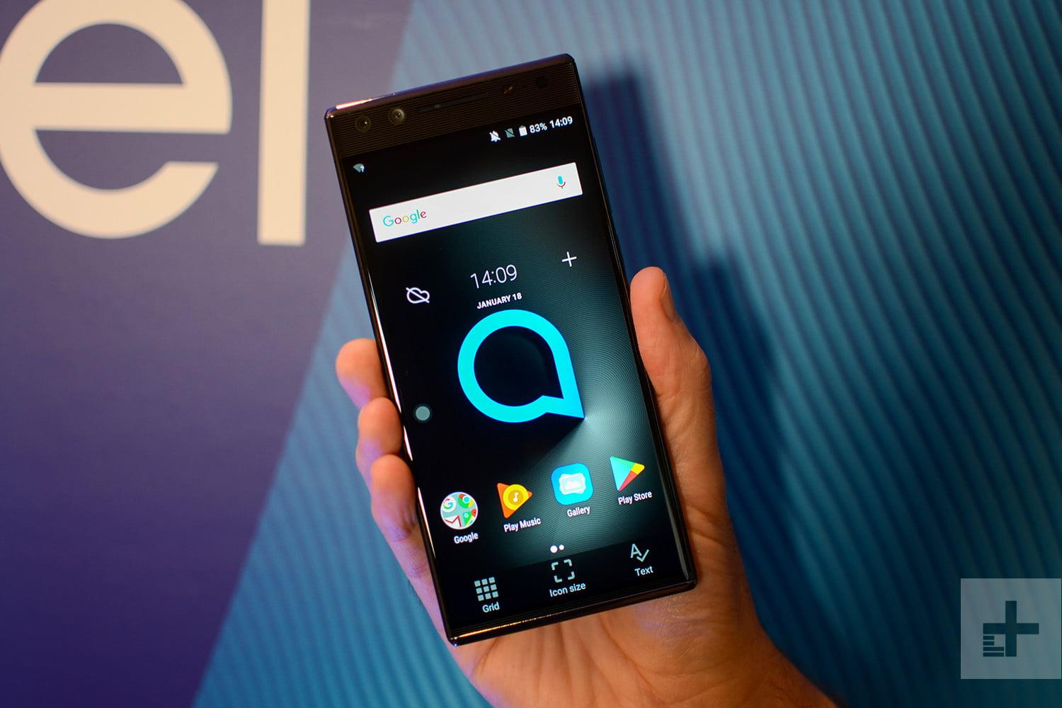 Alcatel's 2018 phone lineup features a budget phone with ...