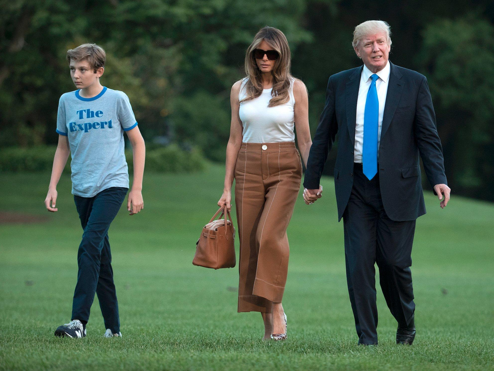 Melania Trump Says She S A Full Time Mom Who Refuses To