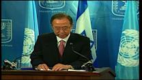 Ban Ki-moon calls for continued efforts to find peace in the Middle East