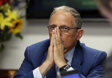 Chairman and President of the Export-Import Bank Hochberg pauses during the Reuters Aerospace and Defense Summit in Washington