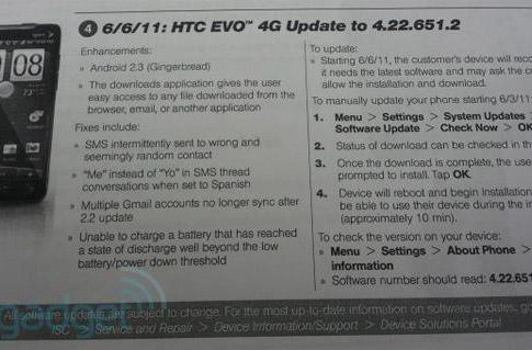 EVO 4G getting Gingerbread on June 6th (or Friday if you're impatient)