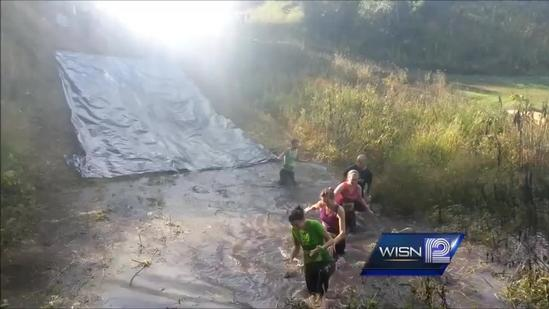 7 mile obstacle course gets competitors wet and dirty