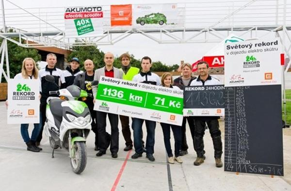 Czech electric scooter company covers 706 miles in 24-hours, claims world record