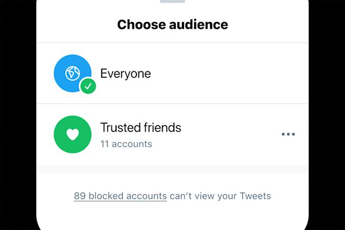 """Twitter is considering a """"trusted friends"""" feature."""