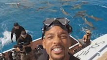 Will Smith conquers his fear of the ocean and sharks with terrifying shark dive