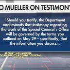 Justice Department warns Mueller to stay within boundaries of report at hearing