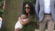 Meghan Markle attends polo with baby Archie to support Prince Harry