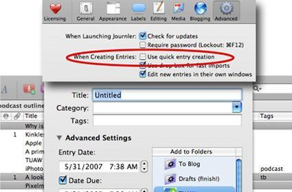 TUAW Tip: get more control when creating new Journler entries