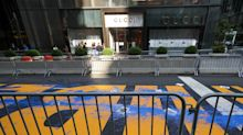 3 people were arrested on suspicion of splashing blue paint on a Black Lives Matter mural in front of Trump Tower