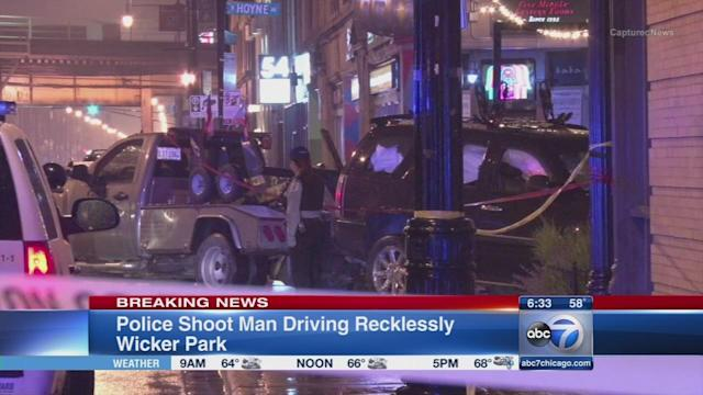 Police shoot alleged reckless driver in Wicker Park, FOP says