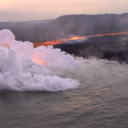 Aerial Footage Shows Lava Flow From Fissure to Hawaiian Coast