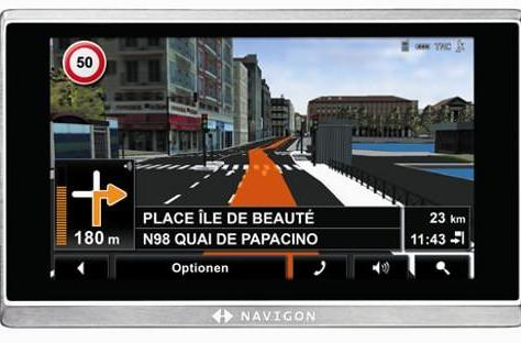 NAVIGON dizzies with navigation options, then gets us pointed in the right direction again