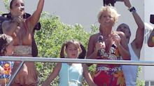 Sasha Meneghel relembra foto da infância no Carnaval em cima do trio de Ivete Sangalo