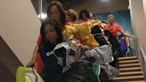 New York Knicks City Dancers Cheer Coat Drive Success
