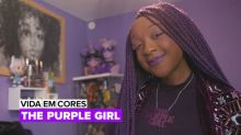 Vida em Cores: The purple girl