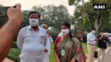 DMK MPs protest against NEET at Parliament premises