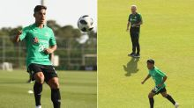 Socceroos get to work at plush Turkey camp