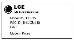 LG's CU515 for AT&T rocks the FCC