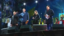 Ukrainian opposition rallies supporters in night protest