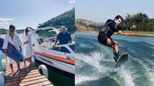 Caio Castro é criticado por praticar wakeboard na quarentena