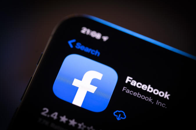 The Facebook application is seen in the App Store on an iPhone in Warsaw, Poland on March 31, 2020. (Photo by Jaap Arriens/NurPhoto via Getty Images)