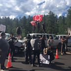 Protesters in Keystone arrested after blocking road to Mount Rushmore for hours