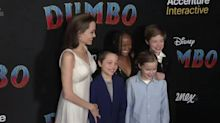 Angelina Jolie and her children turn up for Dumbo premiere in Los Angeles