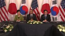 N.Korea fires missiles as U.S., Japan, S.Korea leaders meet