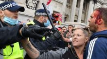 Coronavirus: Officers and protesters hurt as police try to clear anti-lockdown rally in central London
