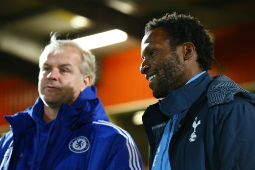 Tottenham coach Ugo Ehiogu was hospitalised on Thursday