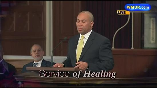 Raw Video: Deval Patrick speaks at Service of Healing