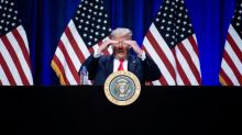 Barnstorming US, Trump mocks Biden for 'staying in again'