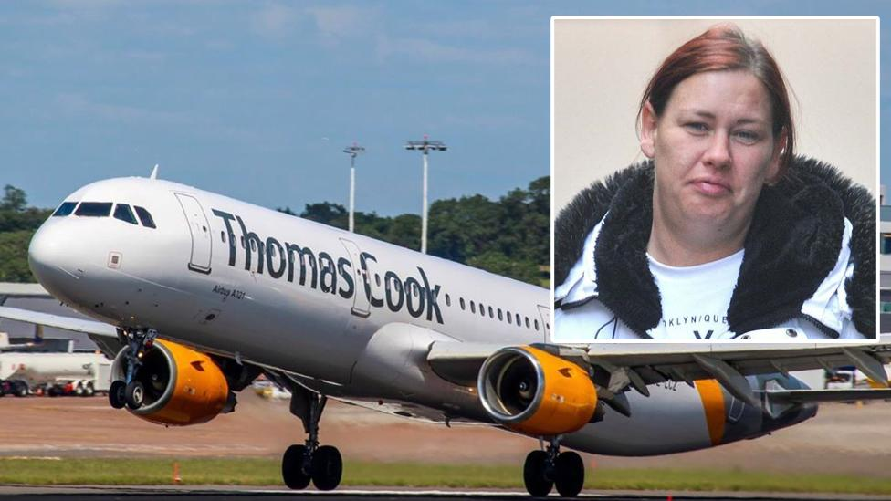 Drunk mum who exposed herself to cabin crew in 'terrifying' air rage jailed