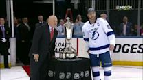 Stamkos accepts Prince of Wales trophy
