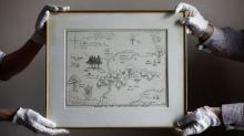 Mapa original de Bosque dos Cem Acres do Ursinho Pooh é vendido por valor recorde em leilão