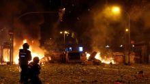 Las protestas violentas de anoche en Cataluña se saldaron con 182 heridos