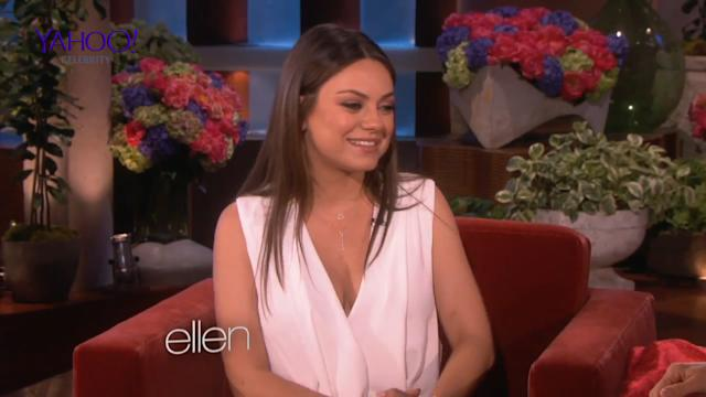 Mila Kunis on pregnancy cravings and natural birth