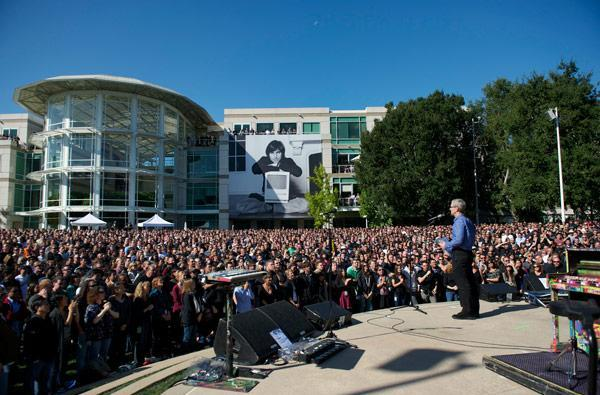 Visualized: Apple's celebration of Steve Jobs' life in Cupertino (Update: video)
