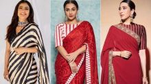 Kajol, Vidya Balan, Karisma Kapoor Show How To Rock Bold Stripes In Sarees