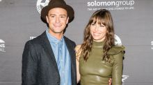 Jessica Biel Stuns in Leather Mini Dress During Rare Red Carpet Appearance With Husband Justin Timberlake