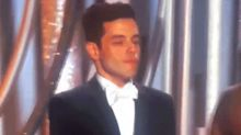 Rami Malek aparece avergonzado por el tremendo feo que le hizo Nicole Kidman en los Globos de Oro