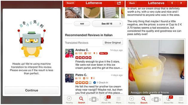 Yelp's iOS app now translates reviews you don't understand