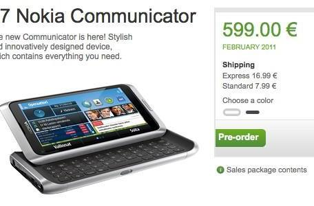 Nokia puts E7 up for pre-order in Finland, planning on delivering in February